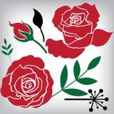 Blumenrosen-Elemente für Design Lizenzfreies Stockbild