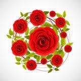 Blumenrosenaufkleber Lizenzfreie Stockbilder