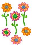 Blumensammlung Lizenzfreies Stockbild