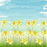 Blumenschablone Lizenzfreies Stockfoto