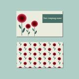 Blumenschablone für Visitenkarte Stockfotos