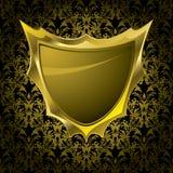 Blumenschildgold Lizenzfreie Stockfotos