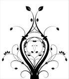 Blumenschwarzweiss-Backgound Stockfoto