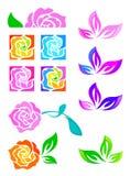 Blumenset vektor abbildung