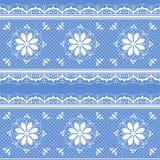 Blumenspitzemuster für Design Stockfotos