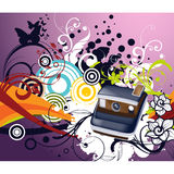 Blumenspulen-Kamera-Vektor-Design Lizenzfreies Stockfoto