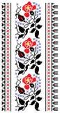 Blumenstickerei Lizenzfreies Stockbild