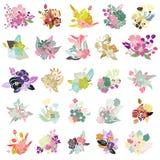 25 Blumensträuße Lizenzfreie Stockfotografie