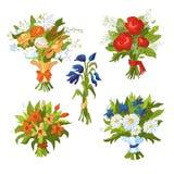Blumensträuße der Blumen vektor abbildung