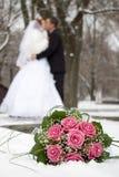 Blumensträuße der Braut Stockfoto