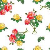 Blumensträuße der Rosen Nahtloses Muster Lizenzfreie Stockbilder