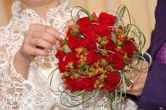 Blumenstrauß der Braut stockbilder