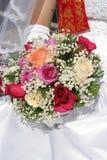 Blumenstrauß der Braut der Blumen lizenzfreie stockbilder