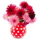Blumenstrauß der Dahlien Lizenzfreies Stockfoto