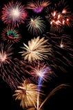 Blumenstrauß der Feuerwerke Lizenzfreie Stockfotografie