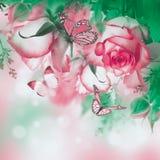 Blumenstrauß der frischen Rosen stockfotografie