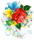 Blumenstrauß der Gartenblumen Stockfoto