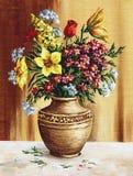 Blumenstrauß der Gartenblumen Lizenzfreies Stockbild