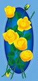 Blumenstrauß der gelben Rosen Stockfotografie
