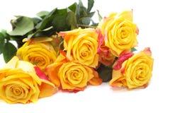 Blumenstrauß der gelben Rosen Stockbilder