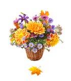 Blumenstrauß der Herbstblumen Stockfotografie
