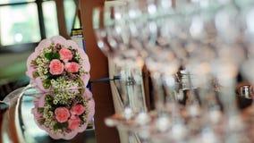 Blumenstrauß der Hochzeitsrosen Lizenzfreies Stockbild