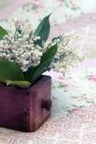 Blumenstrauß der Lilien des Tales Stockbild