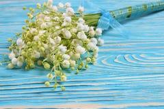 Blumenstrauß der Lilien des Tales Lizenzfreie Stockfotos