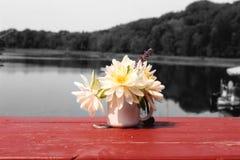 Blumenstrauß der Lotos-Blumen Stockbild