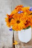 Blumenstrauß der orange Blumen Lizenzfreies Stockfoto