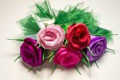 Blumenstrauß der Papierblumen Stockbilder