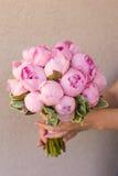 Blumenstrauß der Pfingstrosen lizenzfreies stockfoto