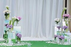 Blumenstrauß der rosa Hortensie blüht in einem Vase Blumenstillleben mit Hortensia Stockfoto