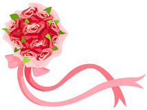 Blumenstrauß der rosafarbenen Blumen Lizenzfreie Stockfotos