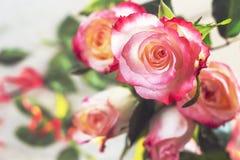 Blumenstrauß der rosafarbenen Blumen Stockfotos