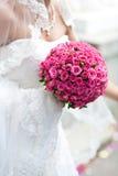 Blumenstrauß der rosafarbenen Rosen Stockbilder
