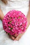 Blumenstrauß der rosafarbenen Rosen Stockfotos