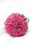 Blumenstrauß der rosafarbenen Rosen Lizenzfreies Stockbild
