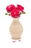 Blumenstrauß der rosafarbenen Rosen Stockbild