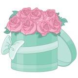 Blumenstrauß der rosafarbenen Rosen auf weißem Hintergrund Lizenzfreie Stockbilder