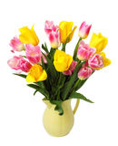 Blumenstrauß der rosafarbenen Tulpen Lizenzfreies Stockfoto
