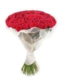 Blumenstrauß der Rose mit 101 Rottönen Stockfotografie
