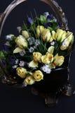 Blumenstrauß der Rosen Stockbild