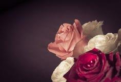 Blumenstrauß der Rosen schließen oben Lizenzfreies Stockbild