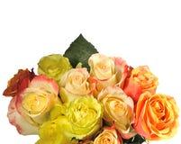Blumenstrauß der Rosen wird es getrennt lizenzfreies stockfoto