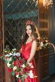 Blumenstrauß der roten Blumen Stockfotografie