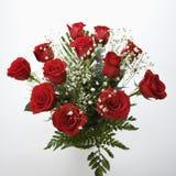 Blumenstrauß der roten Rosen. Lizenzfreies Stockfoto