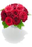 Blumenstrauß der roten Rosen Stockbild