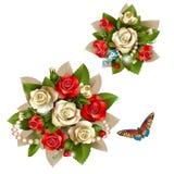 Blumenstrauß der schönen Rosen vektor abbildung