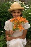 Blumenstrauß der Tageslilien Stockfoto